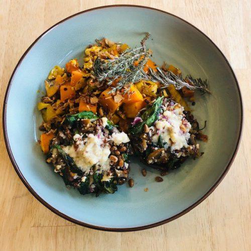 Portobello / venkel / zoete aardappel / feta (veggie / low carb)