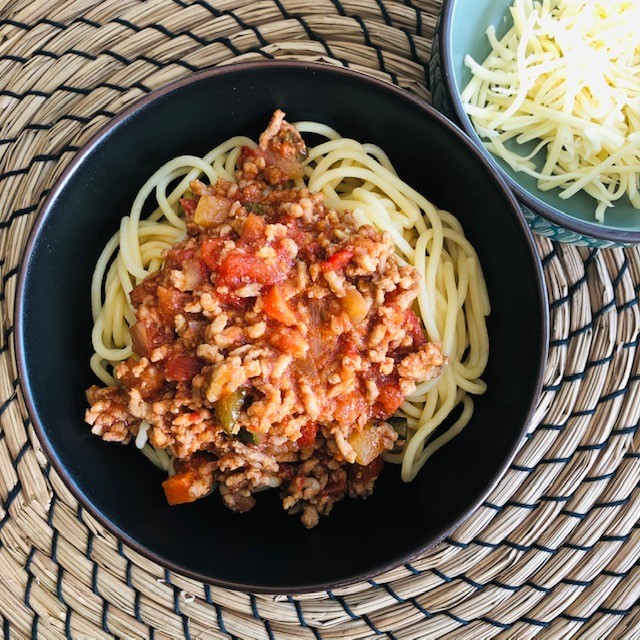 Spaghetti bolognaise kindermenu